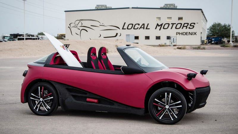 Illustration for article titled Local Motors Has An All New 3D Printed Car Design
