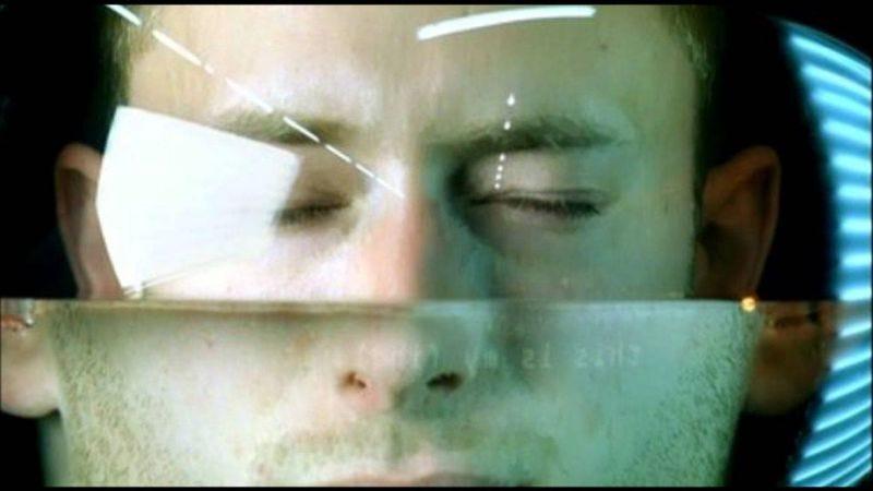 "Thom Yorke in Radiohead's ""No Surprises"" video"