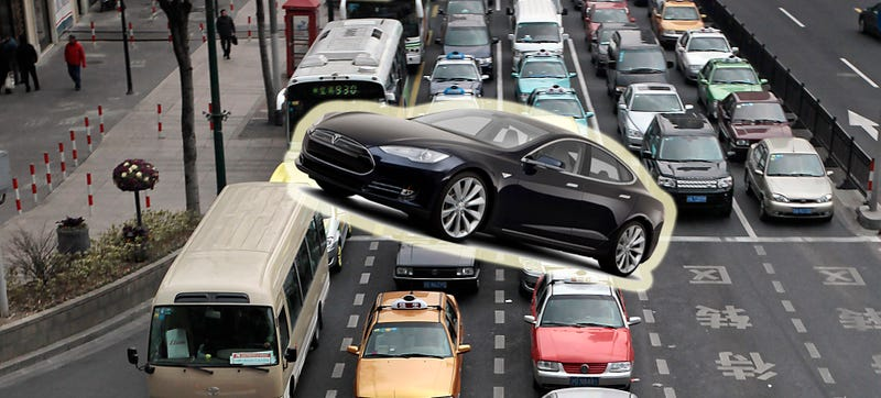 Illustration for article titled Buy A Tesla In Shanghai So You Don't Pay $15,000 For A License Plate