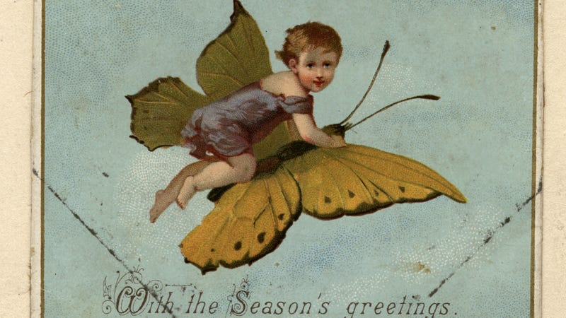 Illustration for article titled Nineteenth Century Christmas Cards Are Pure, Treacly WTF