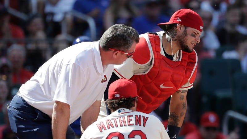 Illustration for article titled Yadier Molina Undergoes Surgery After Taking Fastball To The Dick And Balls