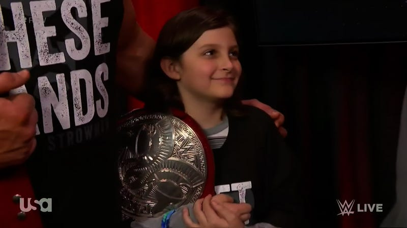 Illustration for article titled A 10-Year-Old Boy Is No Longer A WWE Tag Team Champion