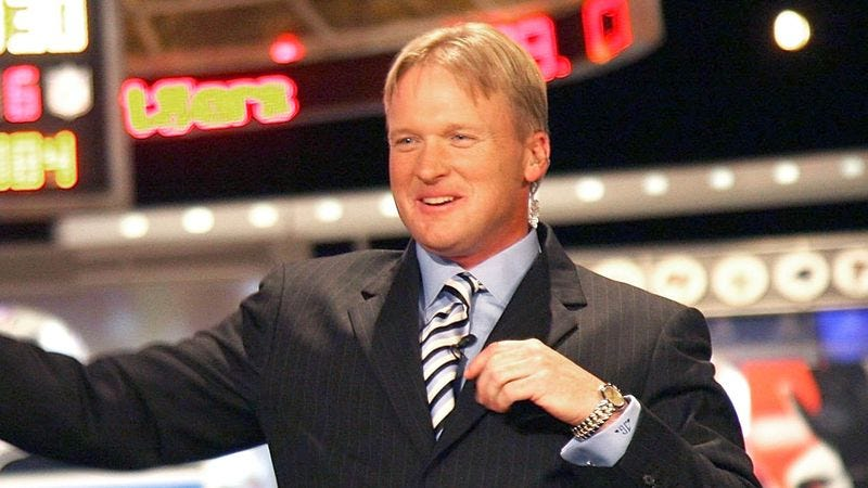 Illustration for article titled Jon Gruden Impressed By Every Blade Of Grass On Football Field