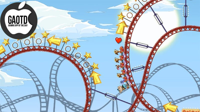 Illustration for article titled This Rollercoaster Ride of a Physics Game Could Use a Better Name