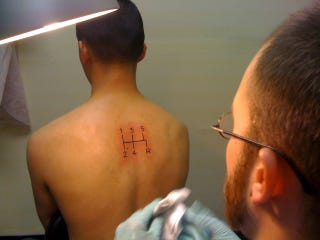 Illustration for article titled Why I Had A 5-Speed Shift Pattern Tattooed On My Back