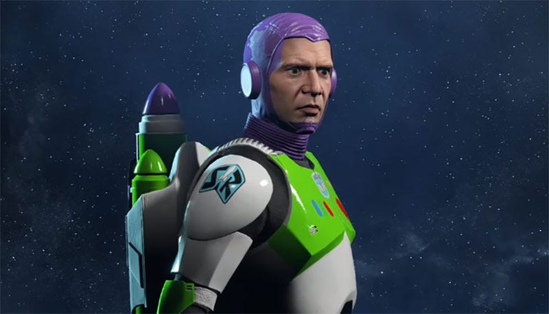 Illustration for article titled Battlefront Mod Makes Buzz Lightyear Captain Of The Millennium Falcon