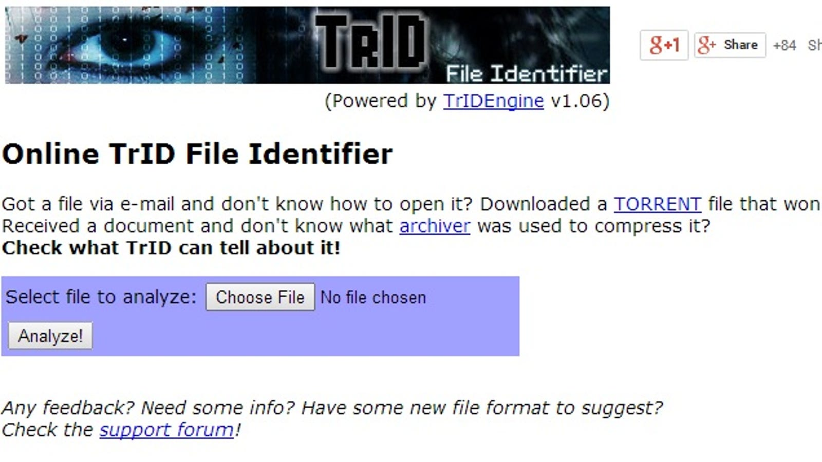 Online TrID Identifies Unknown File Types, No Download Required