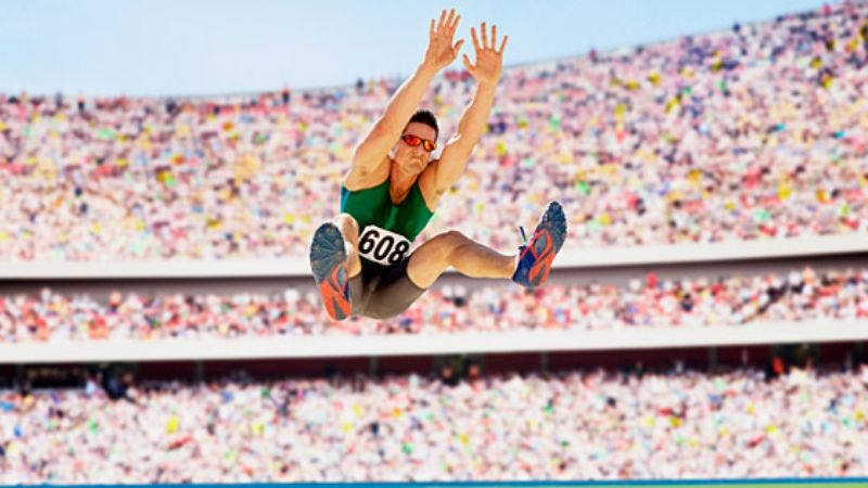Illustration for article titled Area Dad Hopes Son's Interest In Long Jumping Just A Phase