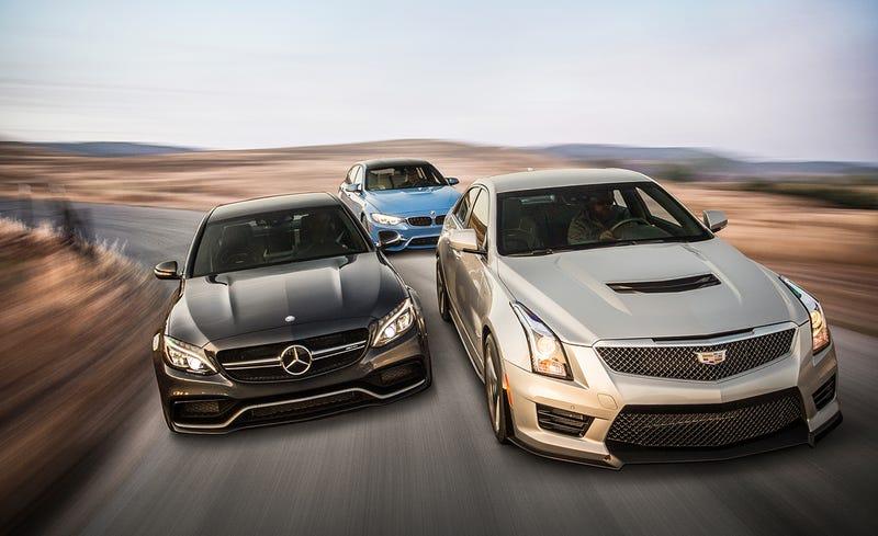 Cadillac ATS-V, BMW M3, Mercedes C63 AMG