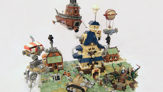 Illustration for article titled LEGO Steampunk Diorama Is All About The Rusty Vehicles