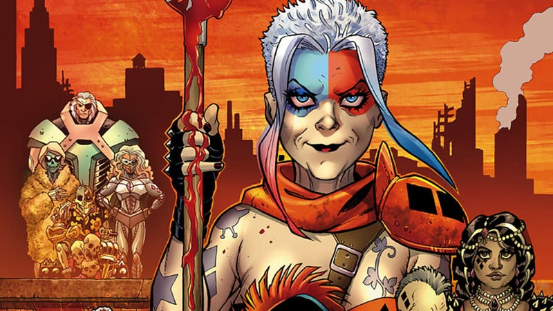 The cover of Harley Quinn #42 by Amanda Conner and Paul Mounts.