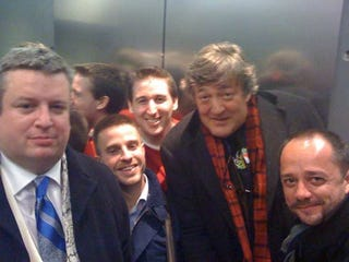 Illustration for article titled Stephen Fry Was Trapped In an Elevator