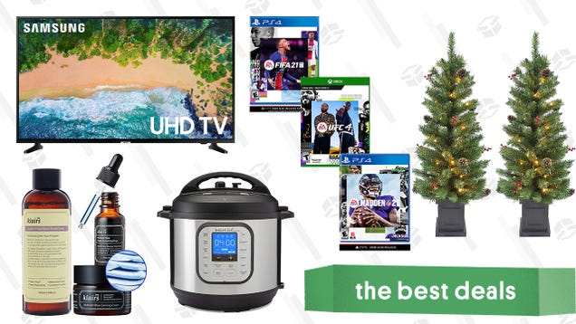 Sunday s Best Deals: Samsung 55-Inch 4K TV, Instant Pot Duo Nova, Klairs Skincare Essentials, FIFA 21, Madden 21, UFC 4, and More