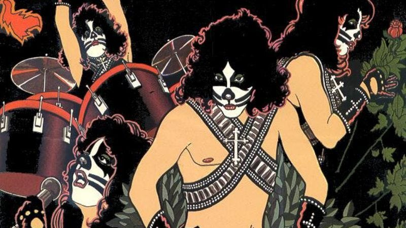 Illustration for article titled Gene, Paul, Ace, and Peter case file #57: The 1978 KISS solo albums