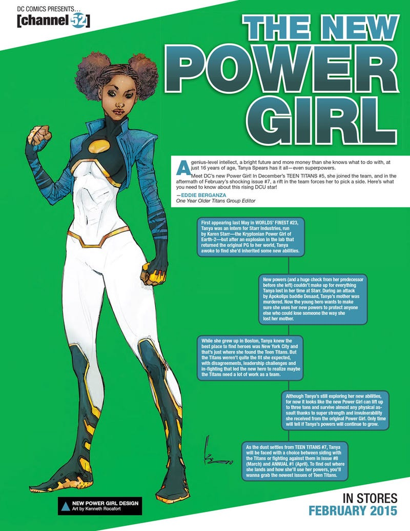 Illustration for article titled New Power Girl Gets a New Look!