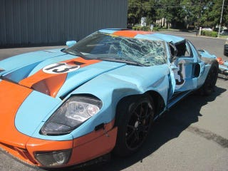 Illustration for article titled How Much Is A Totaled Ford GT Worth To You?