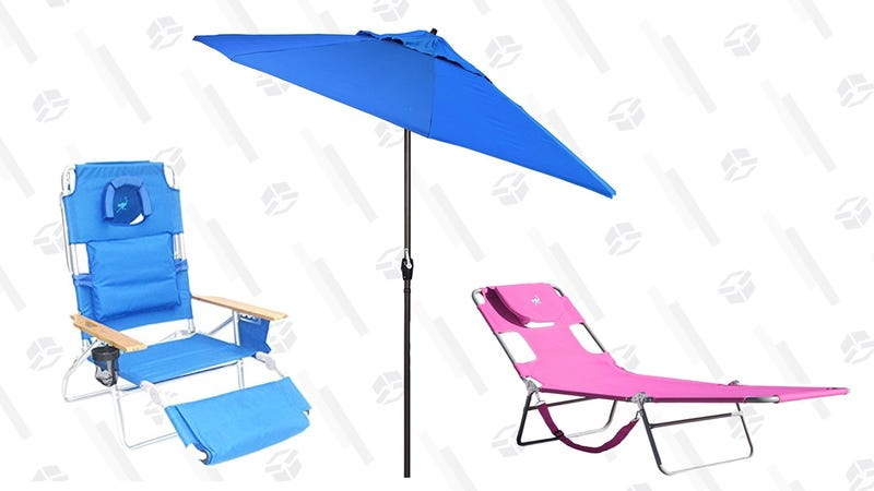 Ostrich Beach Chair and California Umbrella Sale | Amazon