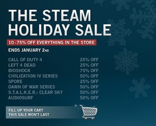 Illustration for article titled Steam Puts Everything On Sale