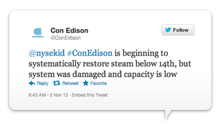 Illustration for article titled ConEdison's Twitter Jockey Is a Hurricane Hero