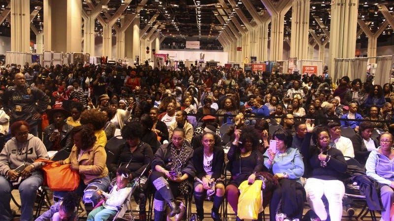 A packed house at the 2018 Black Women's Expo in Chicago.