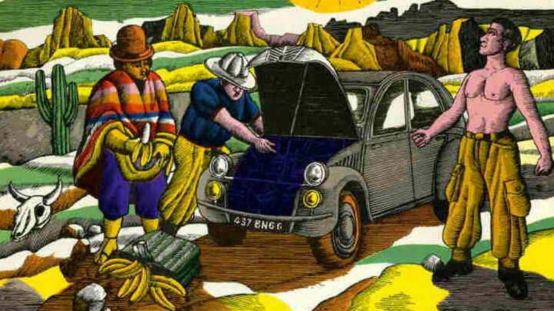 Illustration for article titled How Bananas Saved A Citroën 2CV