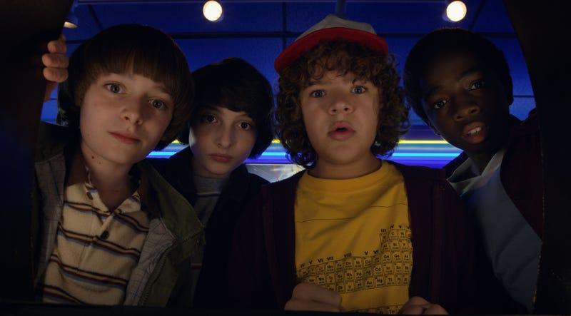 Noah Schnapp, Finn Wolfhard, Gaten Matarazzo, and Caleb McLaughlin star in Stranger Things (Photo: Netflix)