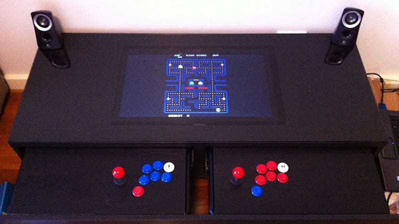 Turn A Coffee Table Into An Awesome Two Player Arcade Cabinet