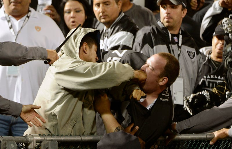 Illustration for article titled Some Fantastic Photos Of A Fan Fight At The Raiders Game [UPDATED WITH VIDEO]