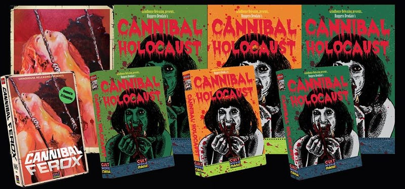 Illustration for article titled We're Salivating Over These Italian Cannibal Classics On VHS