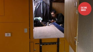 Illustration for article titled Japan's Coffin Apartments Are Not for Claustrophobes