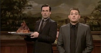 Illustration for article titled Sergio, Scott Brown, And Snooki: Jon Hamm Awkwardly Dances His Way Into Our Hearts On Last Night's SNL