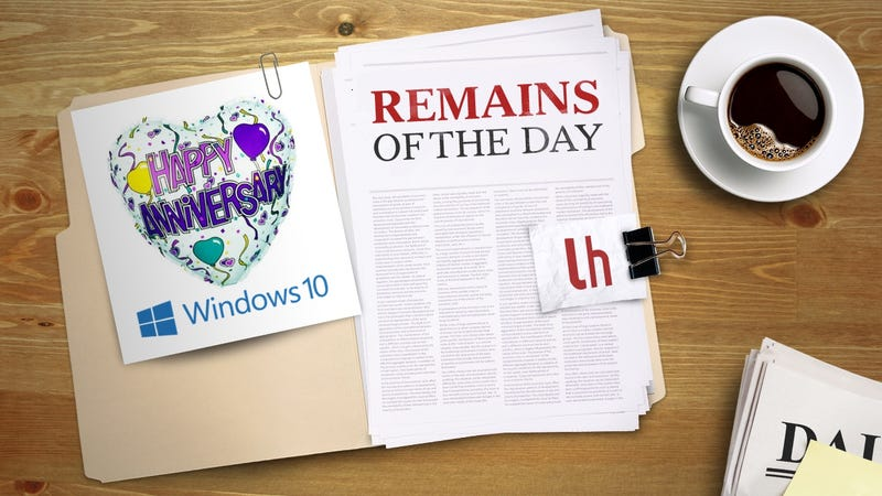 Illustration for article titled Remains of the Day: Windows 10 Anniversary Update to Arrive on August 2nd