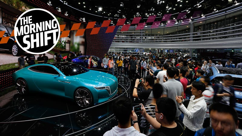 A Hongqi E-Jing GT electric concept car at this year's Beijing Auto Show. AP Photo.