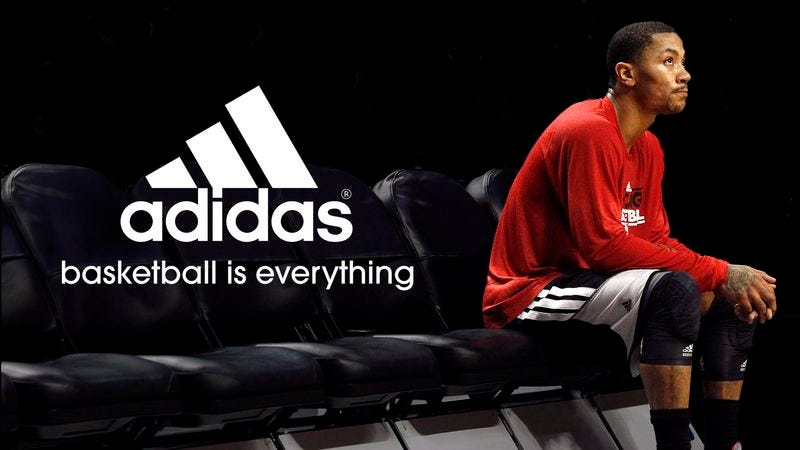 15f7d3316846 Illustration for article titled Unnerving Adidas Commercial Just Features Derrick  Rose Sitting