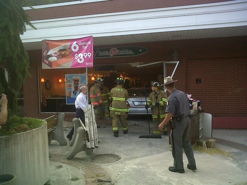 Illustration for article titled Female Driver Plows Into Reader's Dunkin' Donuts This Morning: His Report