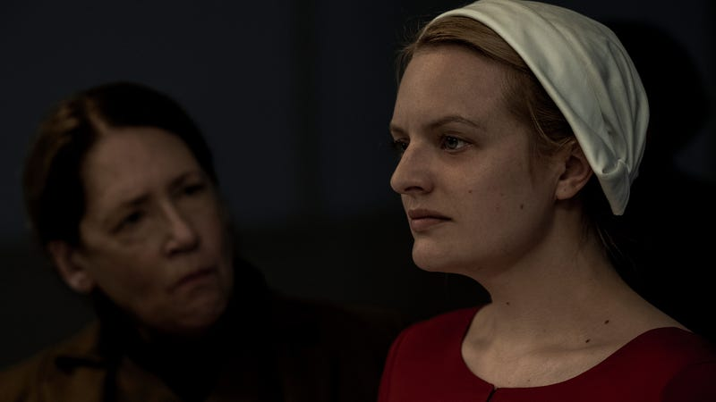 Ann Dowd and Elisabeth Moss square off in The Handmaid's Tale