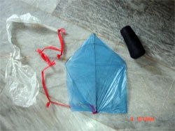 Make A Kite Out Of A Plastic Bag