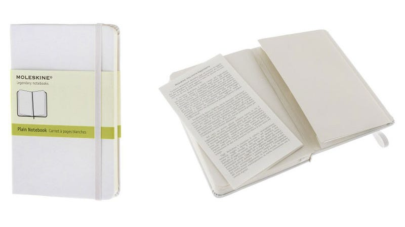 White Moleskines Add Two Extra Pages To Write On
