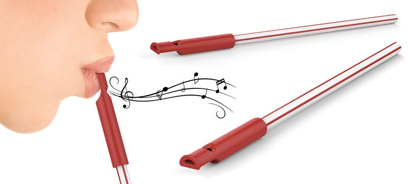 Illustration for article titled You Will Regret Handing Out Slide Whistle Straws At Your Next Party