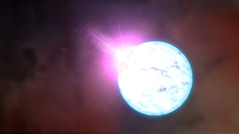 Artist's depiction of a magnetar, a possible source of FRBs. (Image: NASA)