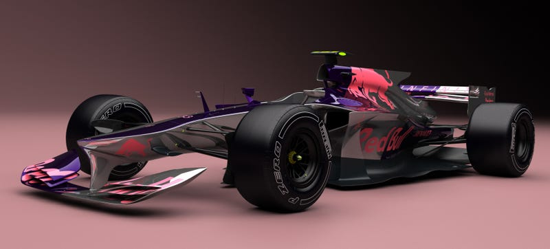 Illustration for article titled Fan-Made Red Bull Concept Shows Off The Sleek, Angular Future Of F1