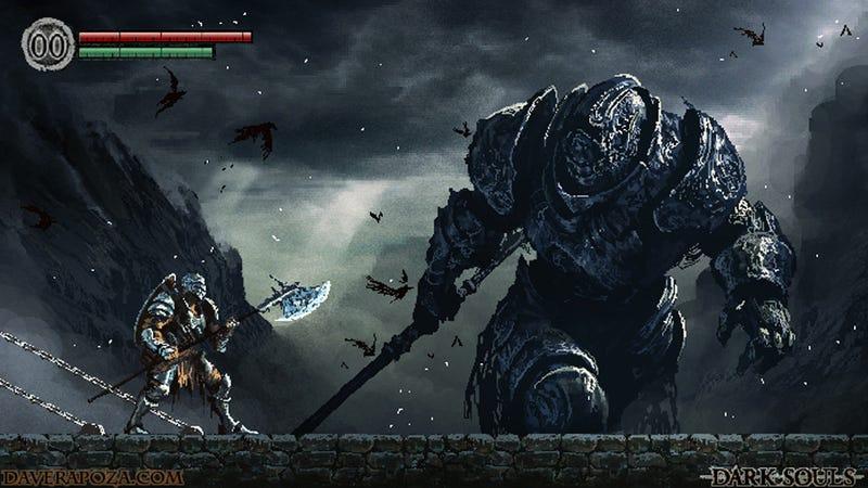 Illustration for article titled If Dark Souls Were a 16-Bit Platformer
