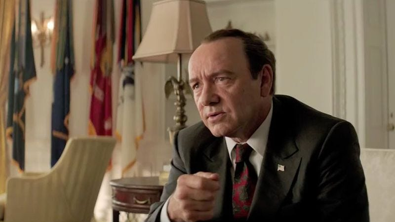 Kevin Spacey in the upcoming Elvis & Nixon