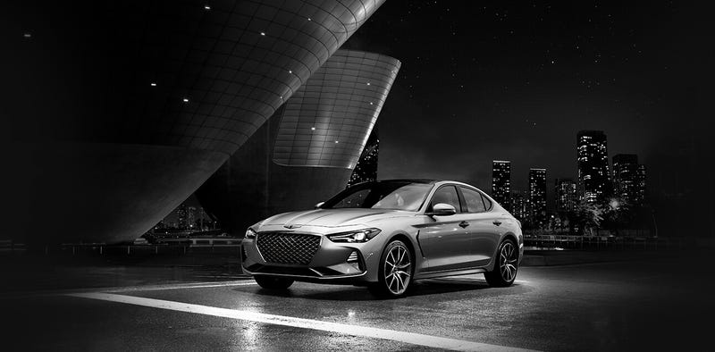 Illustration for article titled Genesis G70 is getting a manual (officially) for the US.
