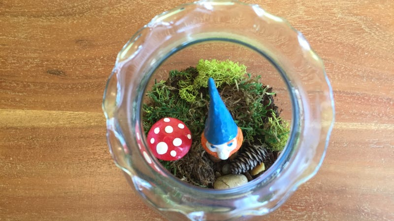 For my moss terrarium, I combined two of my favorite things: Gnomes and gingers. Photo by Olga Oksman/Lifehacker.