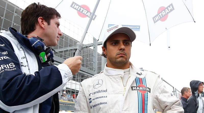 Illustration for article titled Felipe Massa Criticises FIA For Allowing Japanese GP Race In Heavy Rain