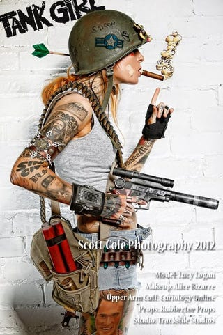 Illustration for article titled Tank Girl Cosplay Flood