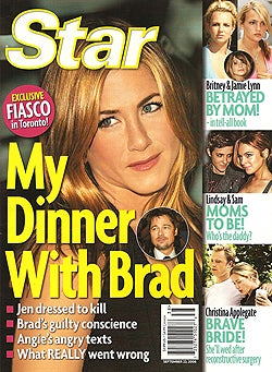 Illustration for article titled This Week In Tabloids: Lindsay Has Baby Plans, Katie Sees Josh, Jen & Brad Do Not Have Dinner