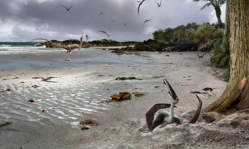 Baby pterosaurs, imagined by an artist.