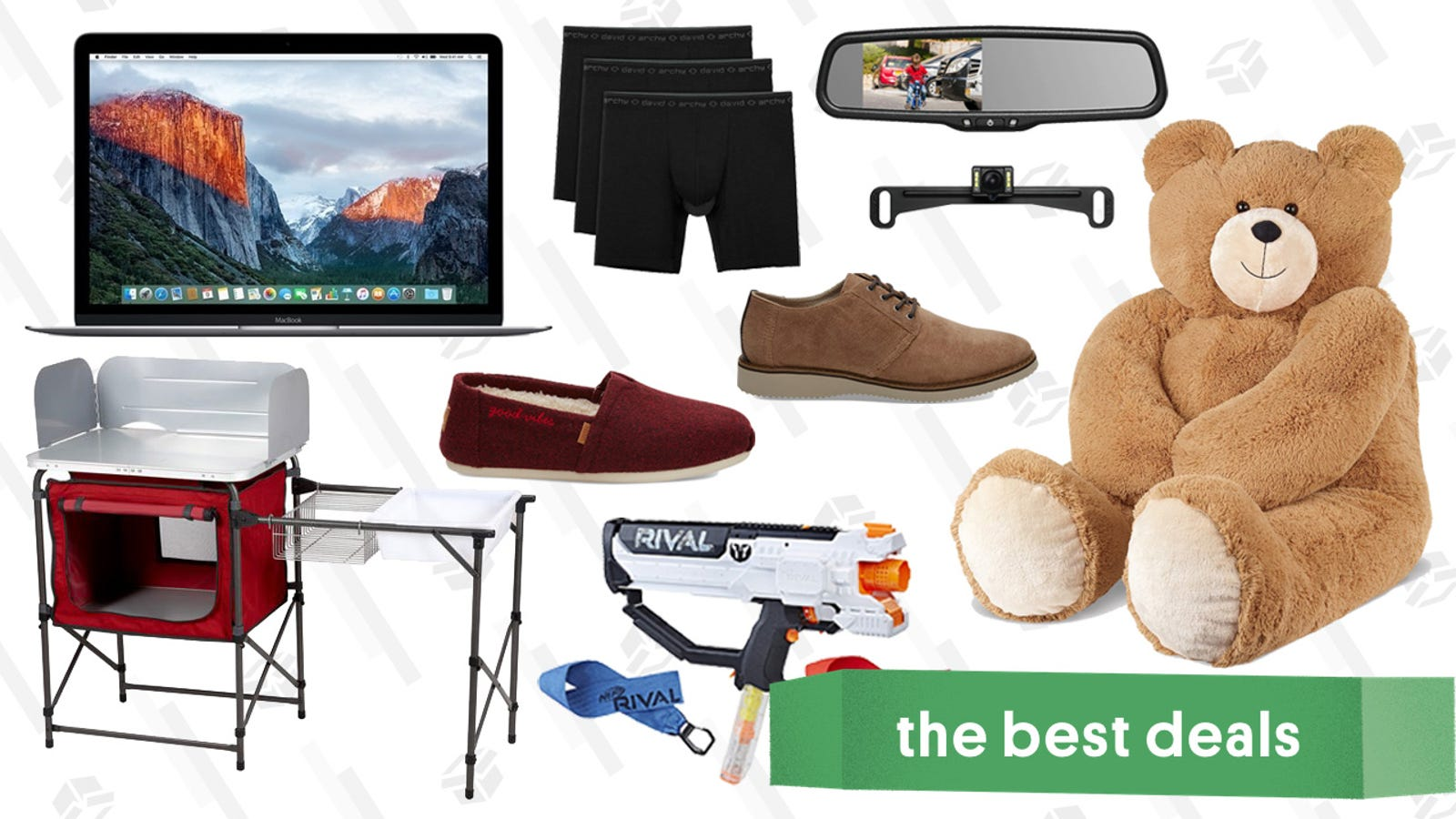 QnA VBage Wednesday's Best Deals: Camp Kitchens, TOMS, Giant Teddy Bears, and More